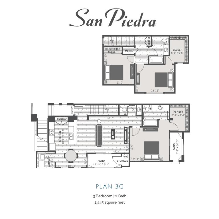3G 2D floor plan