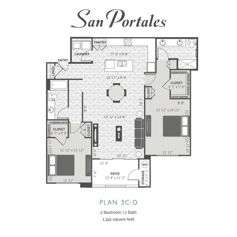 3C-D 2d floor plan