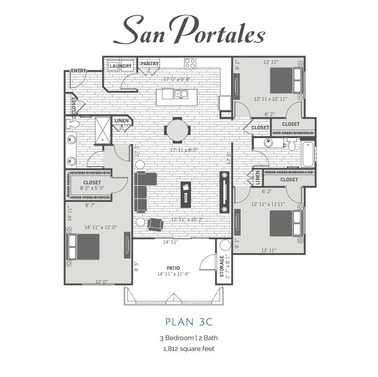 3C 2D floor plan