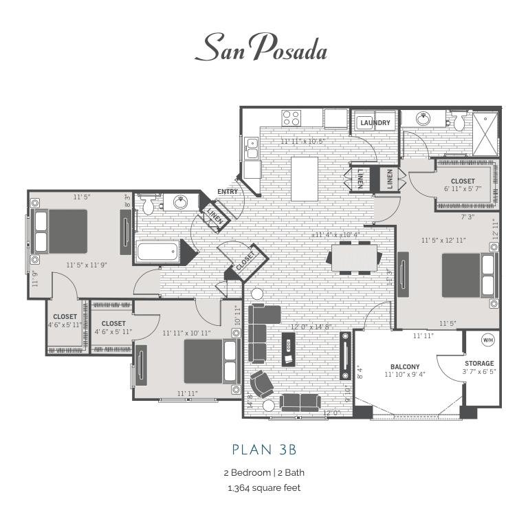3B 2D floor plan