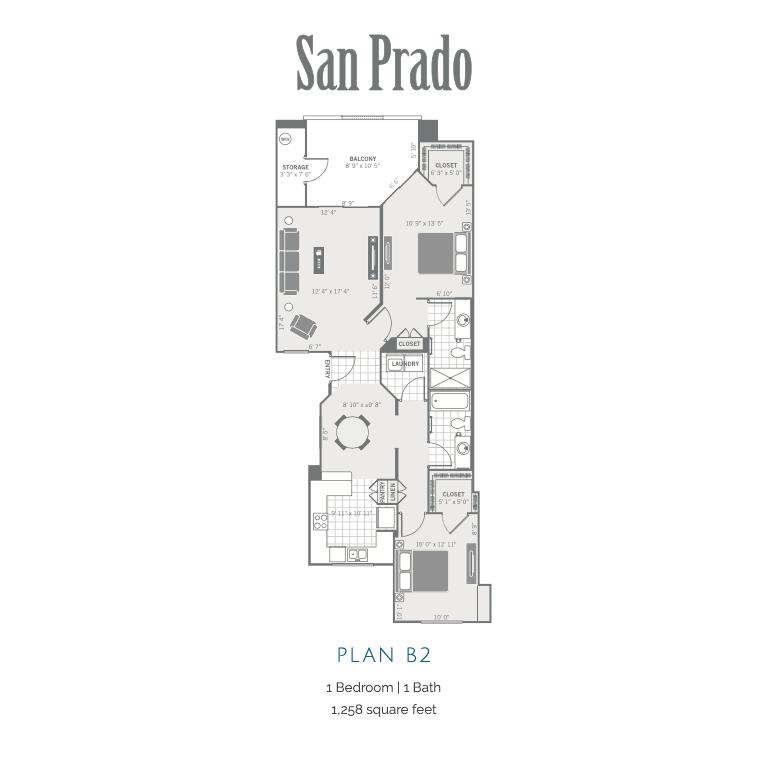 B2 2D floor plan image
