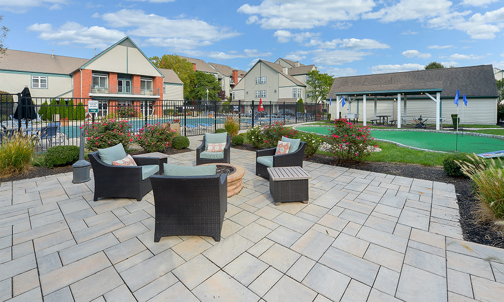 Fire pit at Bishop's View Apartments & Townhomes in Cherry Hill, NJ