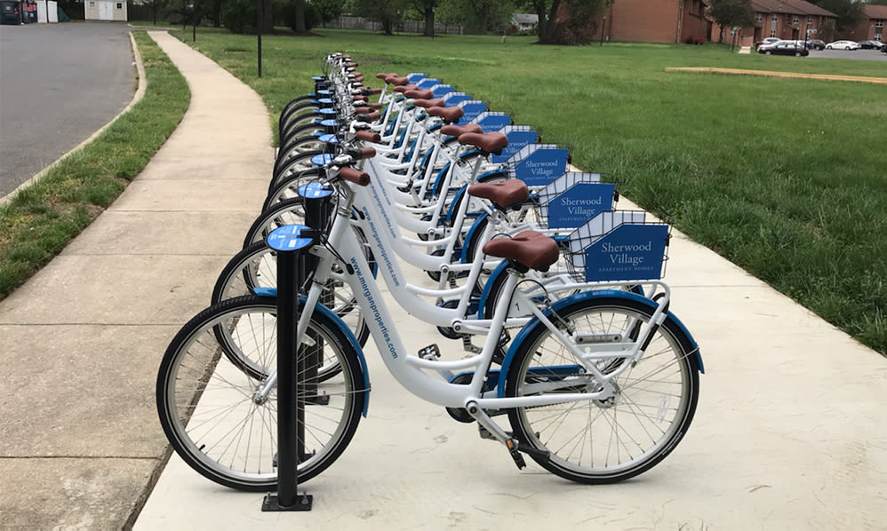 Bike share at Sherwood Village Apartment & Townhomes in Eastampton, New Jersey