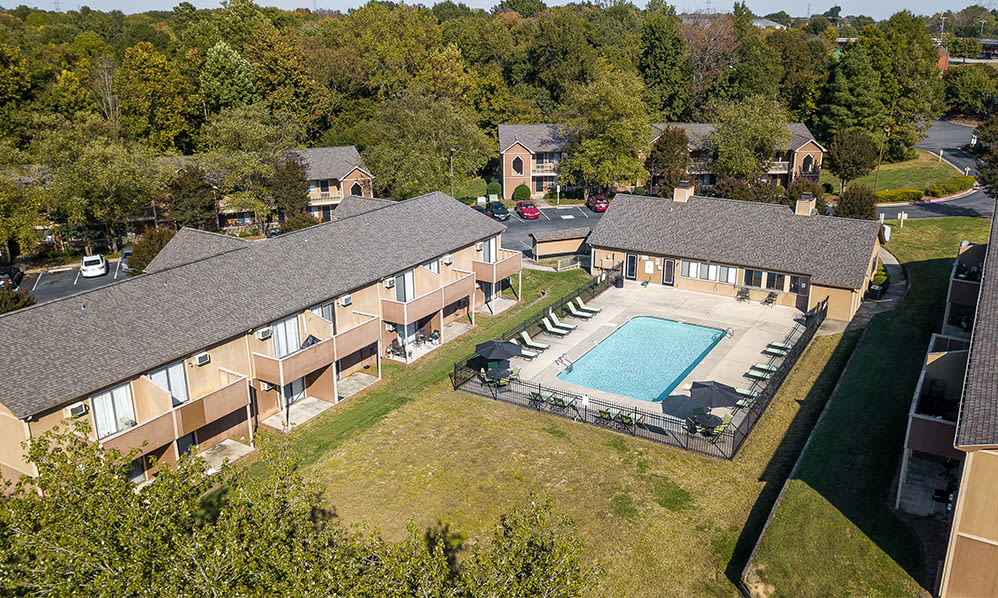 Aerial view of Wexford Apartment Homes in Charlotte, North Carolina