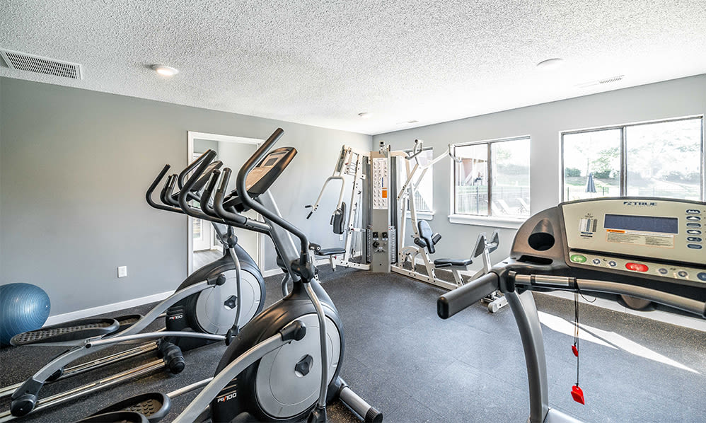 Fitness center at Wexford Apartment Homes in Charlotte, North Carolina