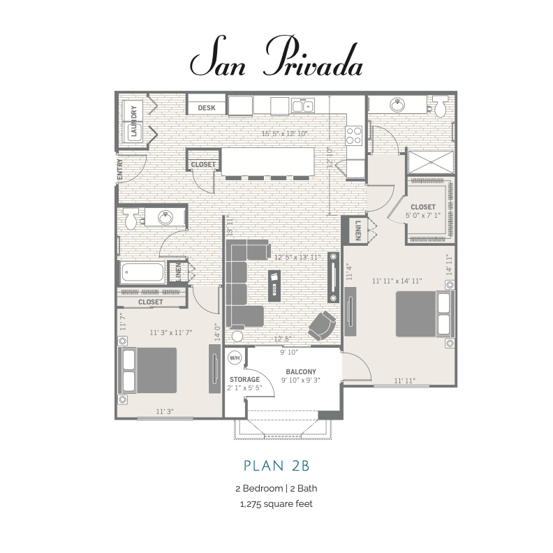 2B 2d floor plan