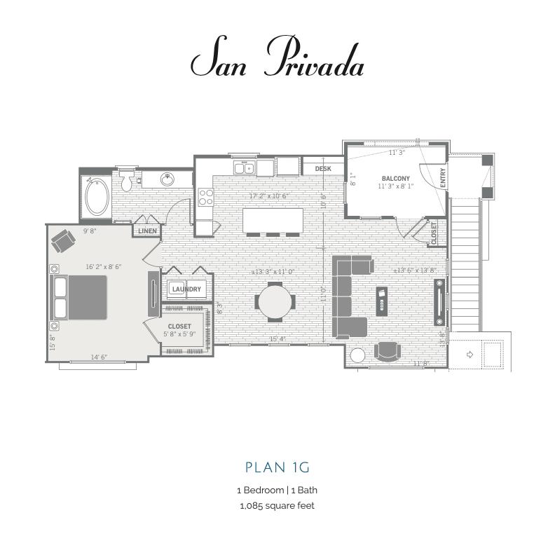 1G 2D floor plan