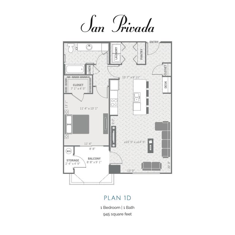 1D 2D floor plan Image