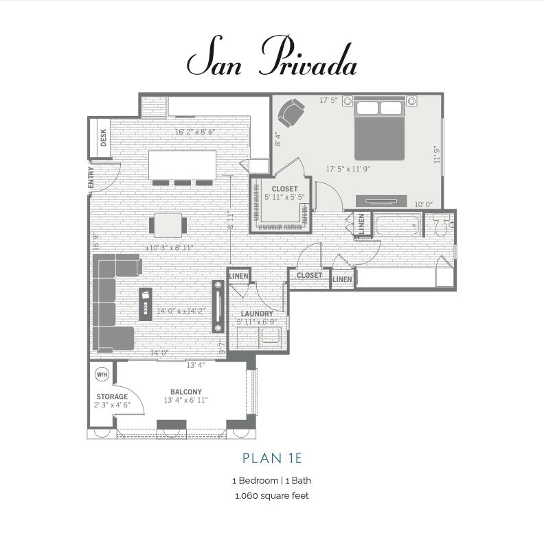 1E 2D floor plan image