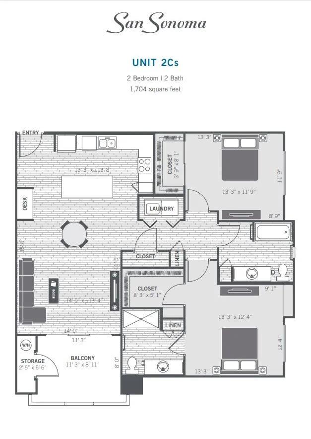 2Cs 2D floor plan
