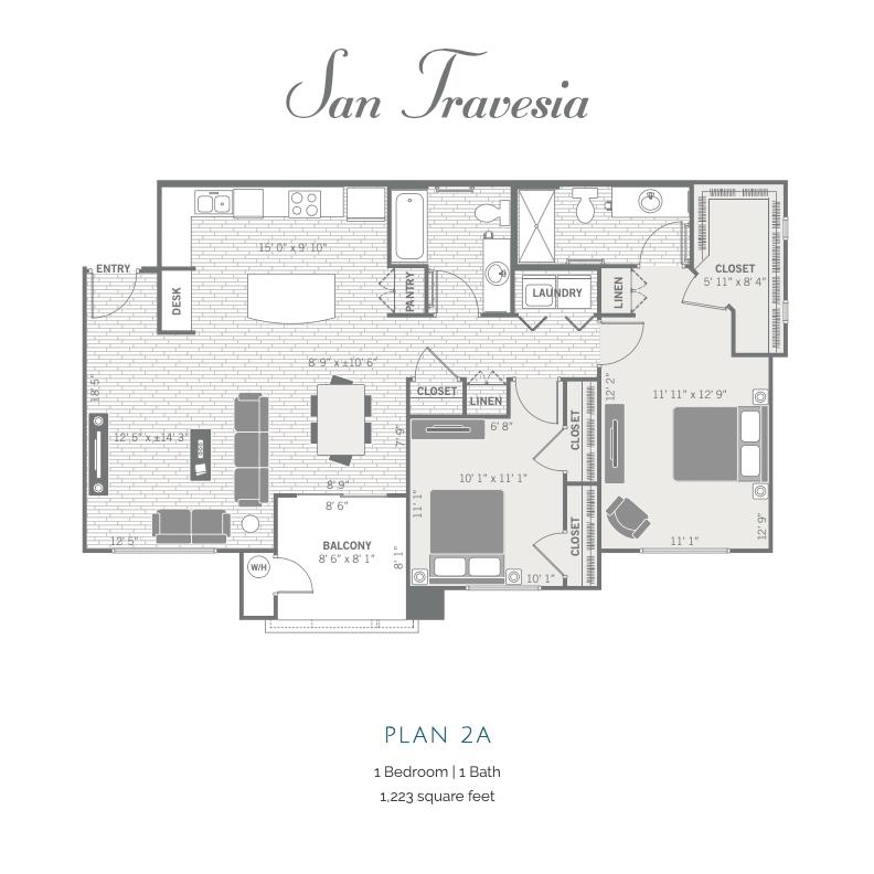 2A 2D floor plan