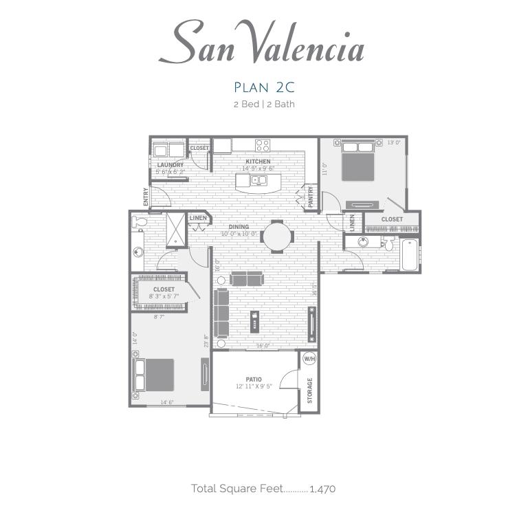 2C 2D floor plan