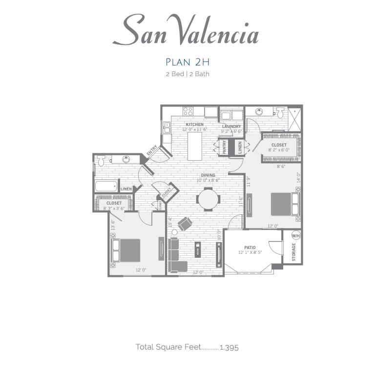 2H 2d floor plan