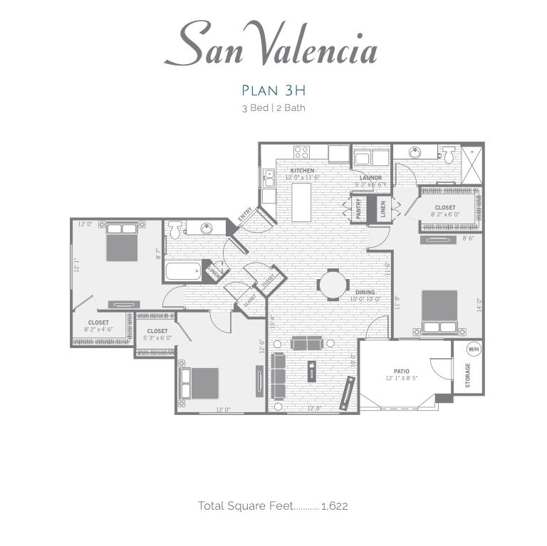 3H 2d floor plan