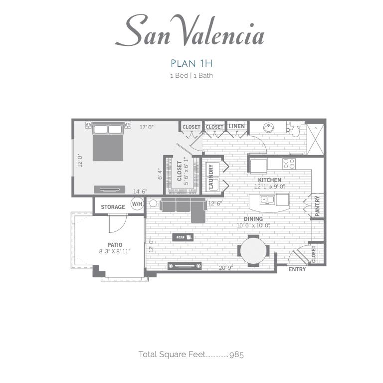 1H 2D floor plan Image