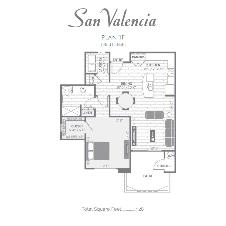1F 2D floor plan image