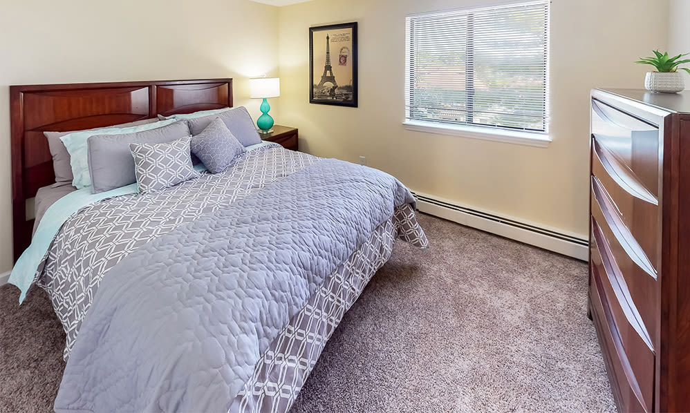 Spacious bedroom at Imperial Gardens Apartment Homes in Middletown, NY