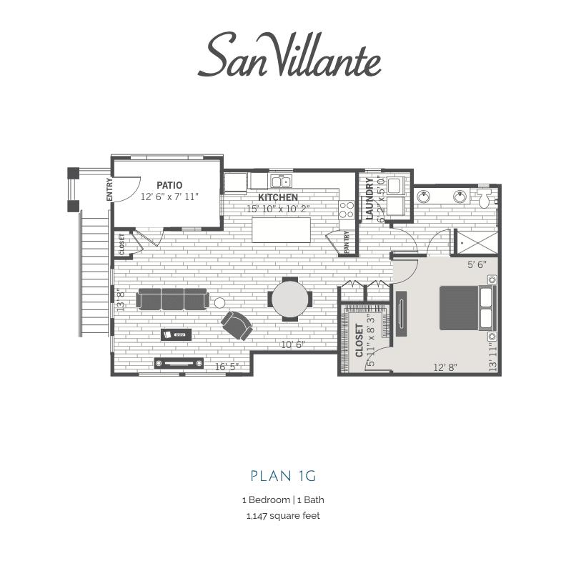 1G 2D floor plan Image