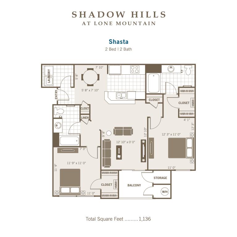 Shasta 2D floor plan