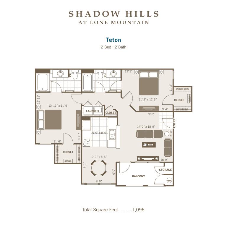 Teton 2d floor plan