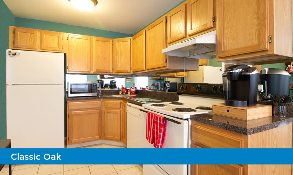 Fully-equipped kitchen at Imperial Gardens Apartment Homes in Middletown, NY