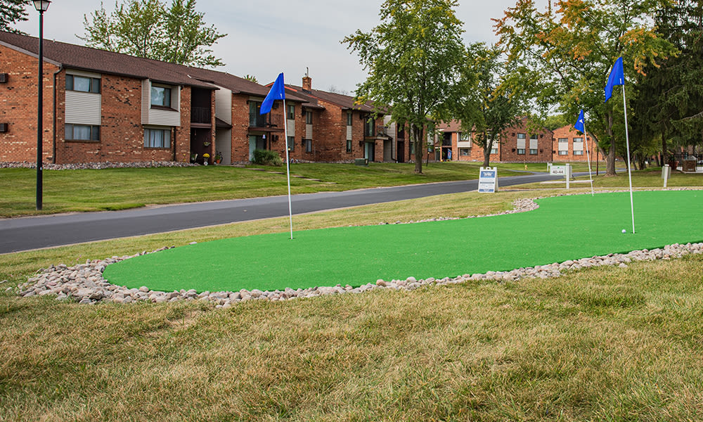 Putting green at Webster Manor Apartments in Webster, New York