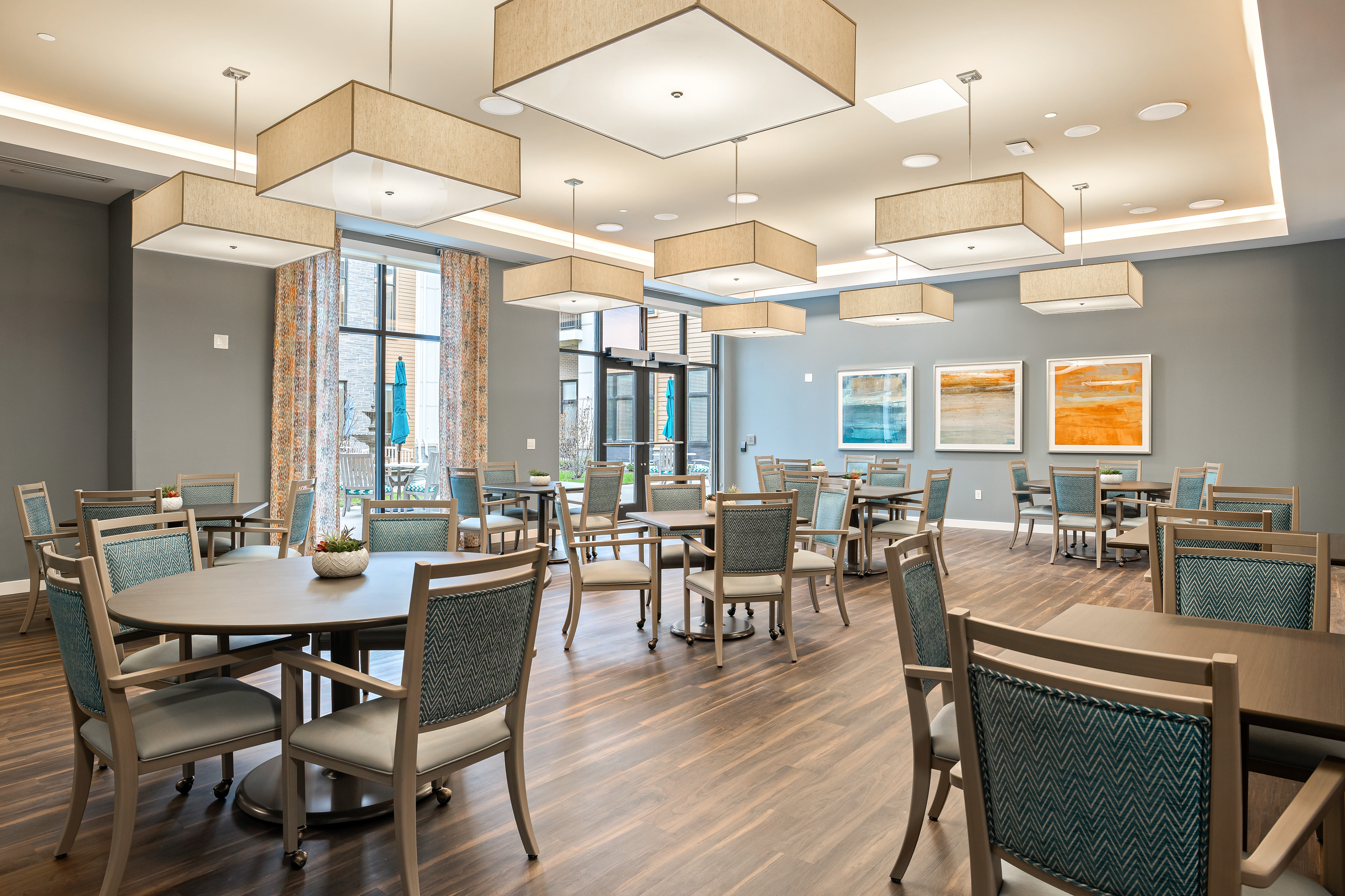 Casual dining room at Anthology of Mayfield Heights - NOW OPEN! in Mayfield Heights, Ohio