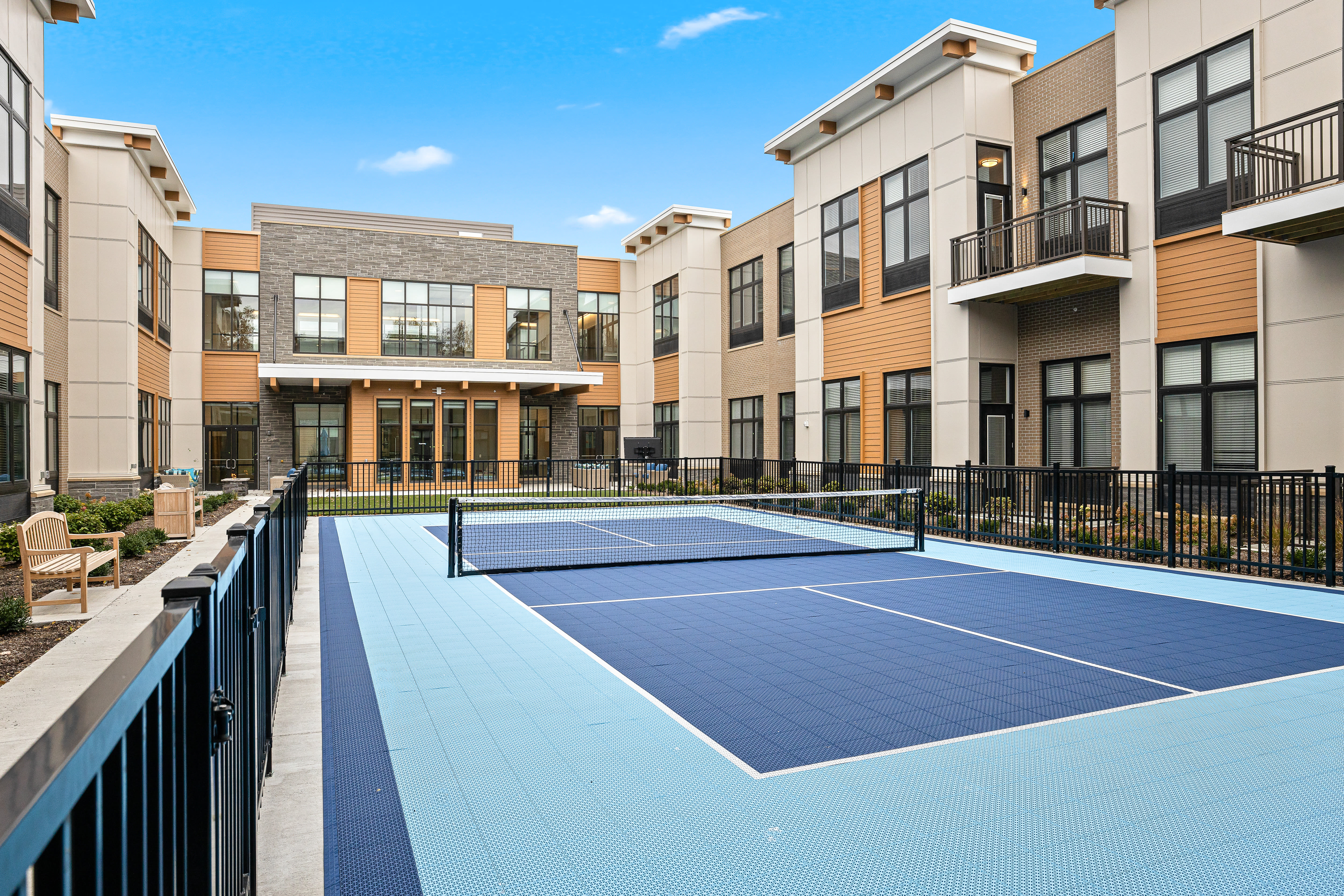 Outdoor Tennis Court Anthology of Mayfield Heights - Now Open in Mayfield Heights, Ohio