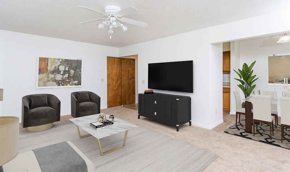 Open floor plans at Creek Hill Apartments in Webster, New York