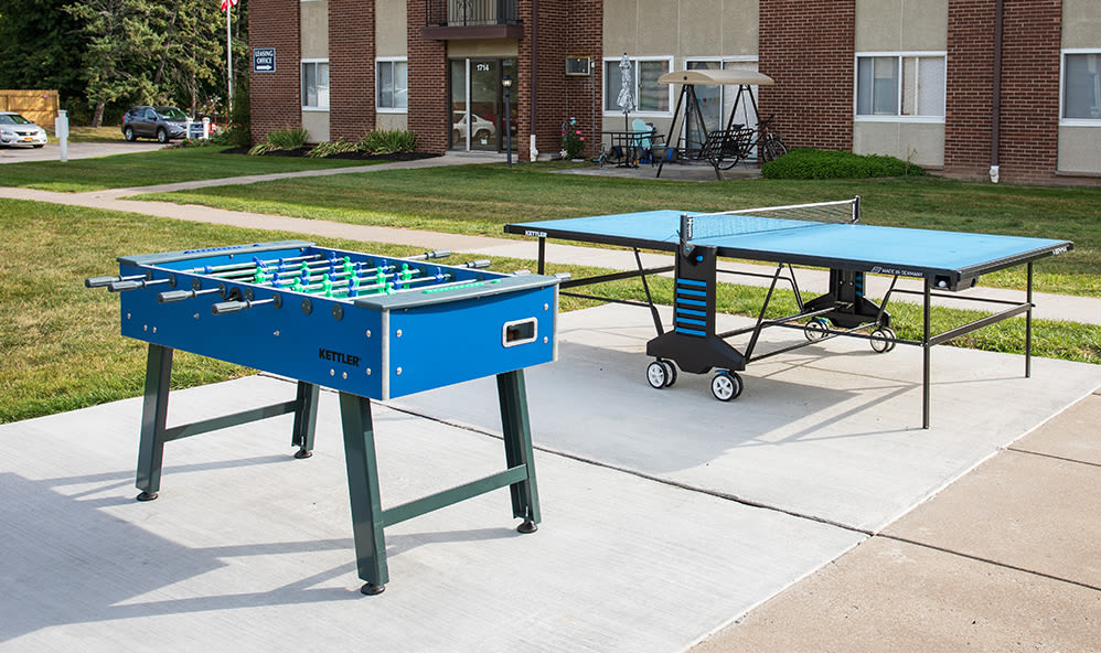 Outdoor games at Creek Hill Apartments in Webster, New York
