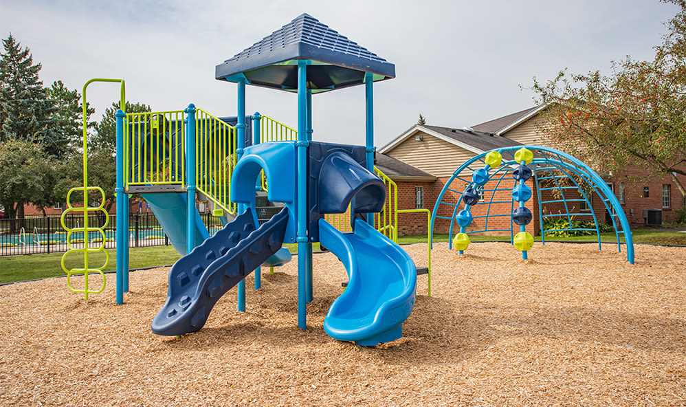 Play area at Waverlywood Apartments & Townhomes in Webster, New York