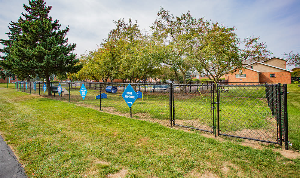 Dog park at Waverlywood Apartments & Townhomes in Webster, New York
