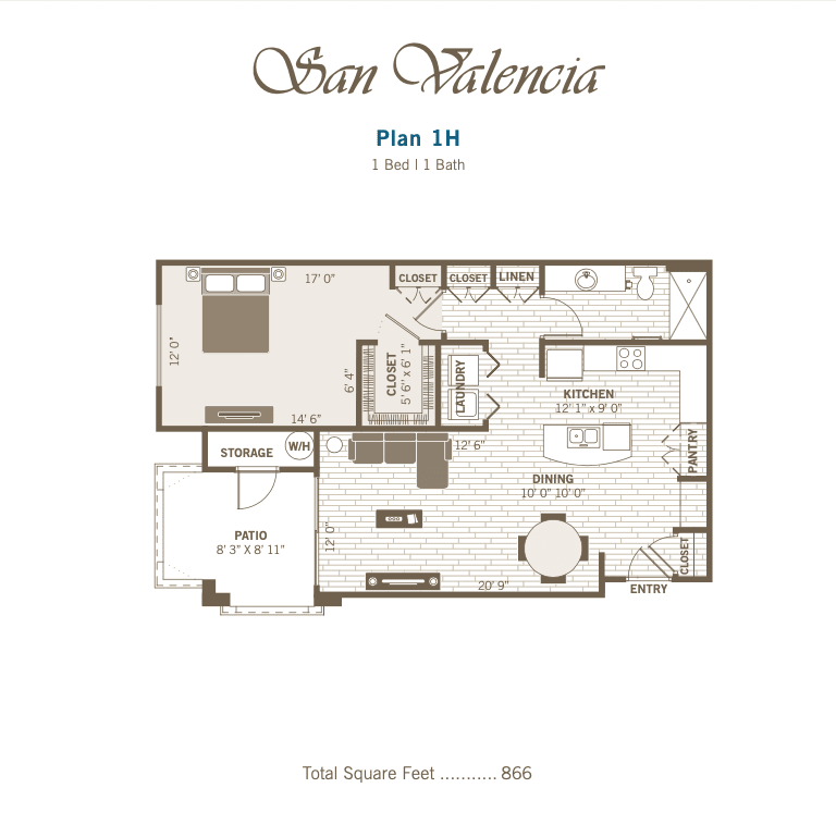 1H 2D floor plan Image