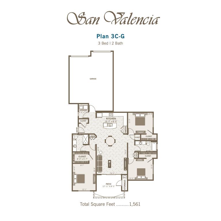 3C-G 2D floor plan