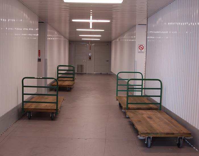Flat bed carts to help with moving at Superior Boat, RV & Commercial Self Storage in Folsom, California