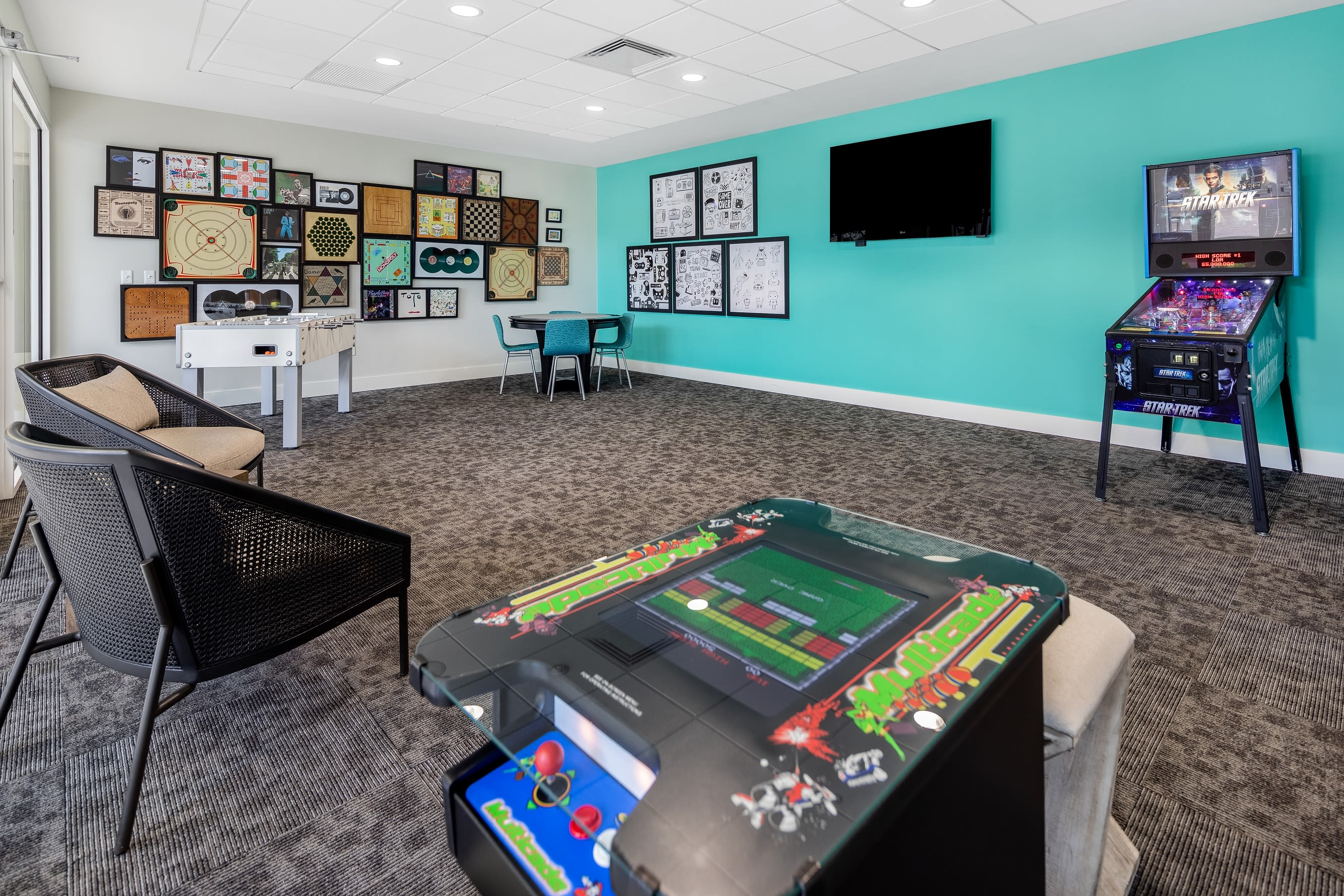 Fitness center with plenty of individual work stations at Midtown 24 in Plantation, Florida