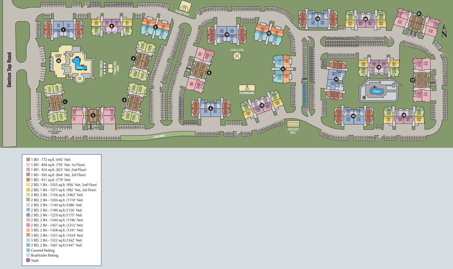 Site map of Ballantyne Apartments in Lewisville, TX