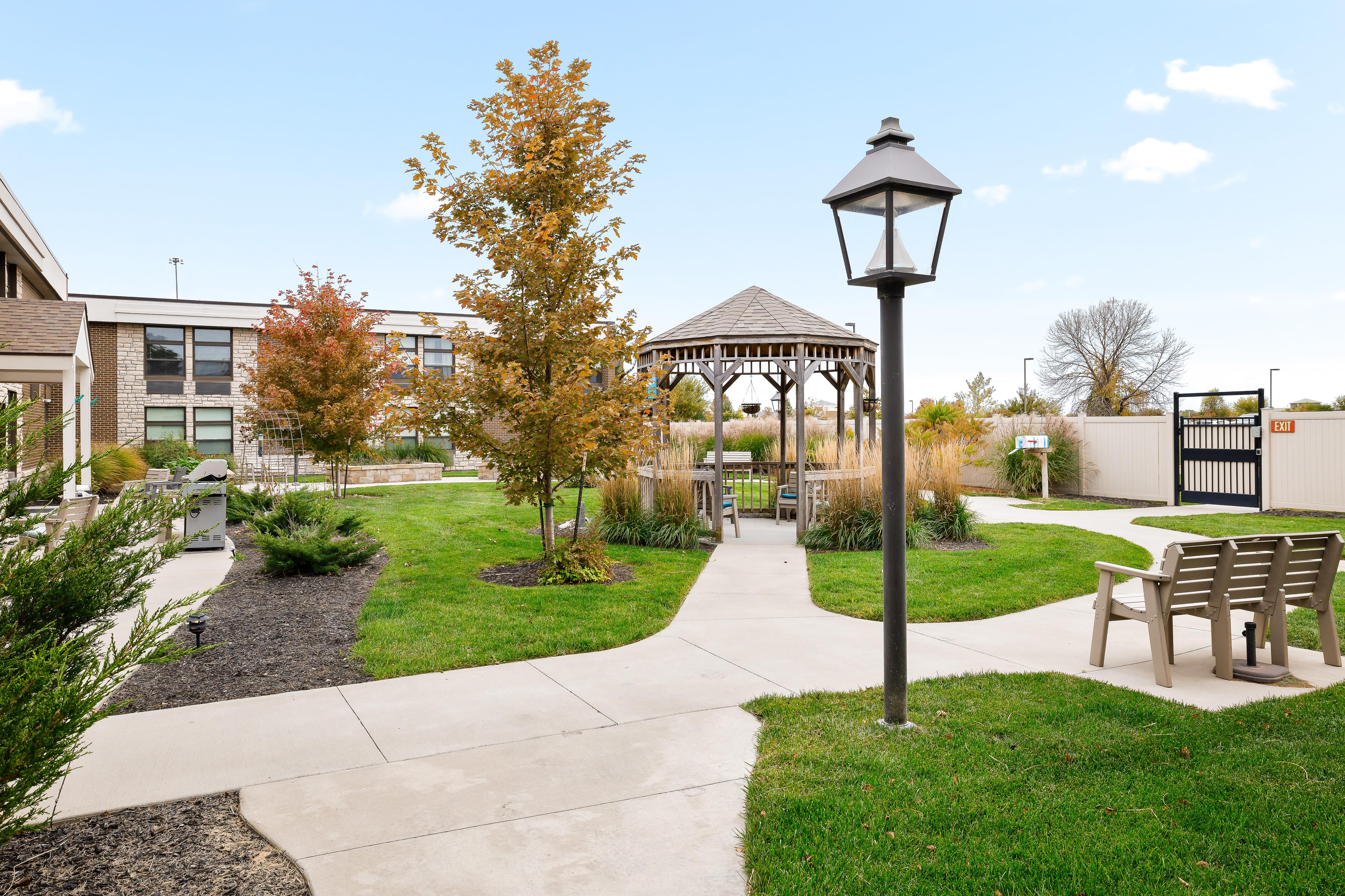 Courtyard at Anthology of Olathe in Olathe, Kansas