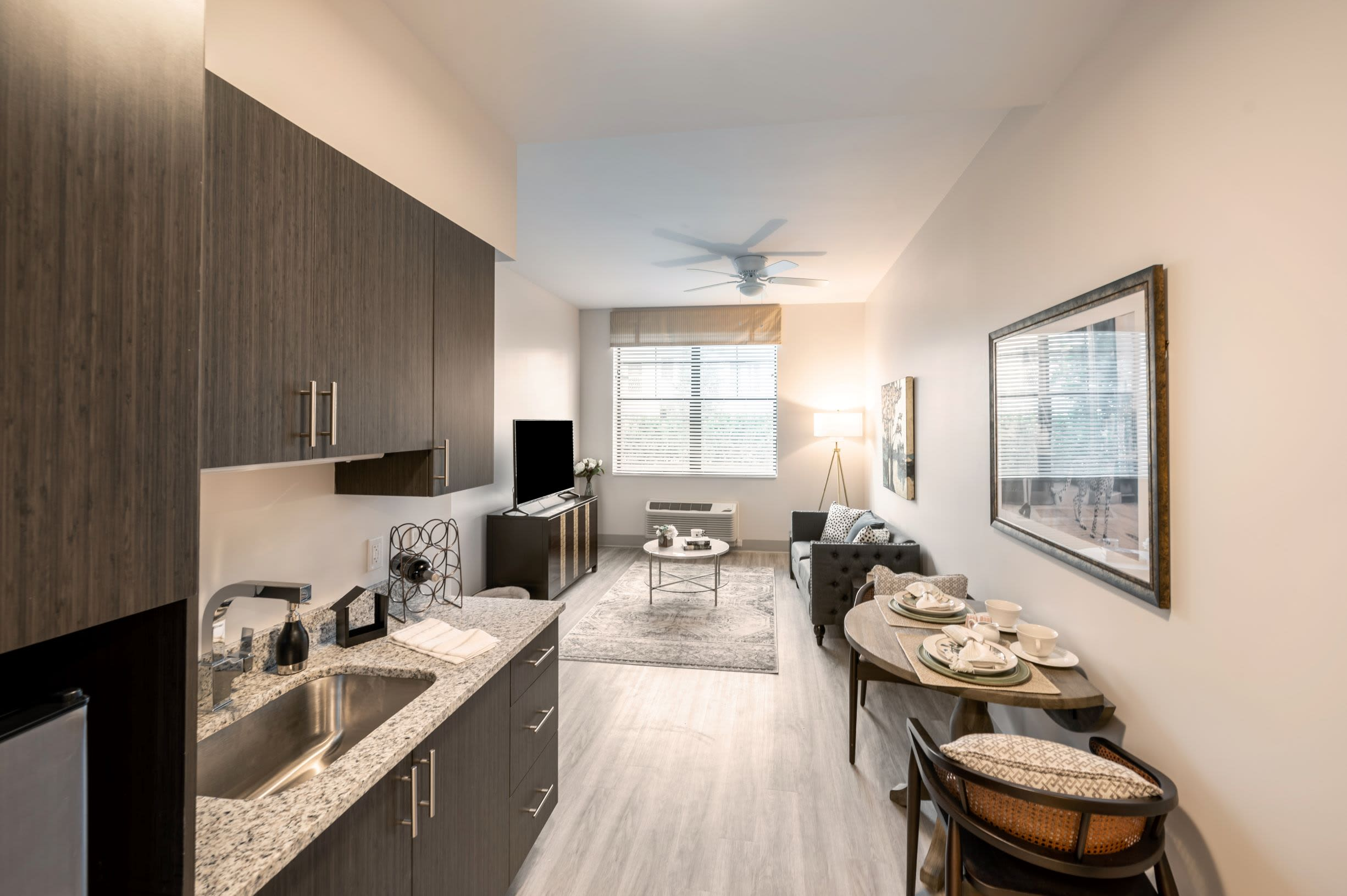 Model apartment at Inspired Living Delray Beach in Delray Beach, Florida