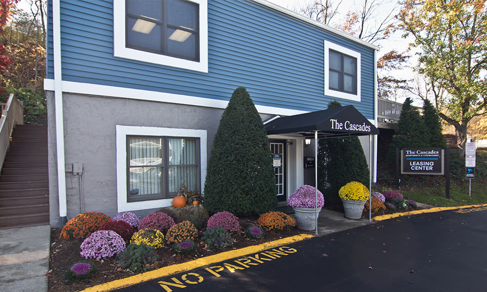 Leasing office at The Cascades Townhomes and Apartments in Pittsburgh, Pennsylvania