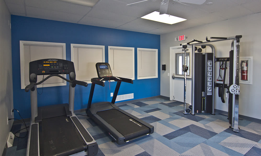 Fitness center at The Cascades Townhomes and Apartments in Pittsburgh, Pennsylvania