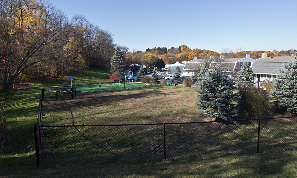 Dog park at The Cascades Townhomes and Apartments in Pittsburgh, Pennsylvania