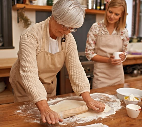 Resident baking at Grand Villa of Palm Coast in Palm Coast, Florida