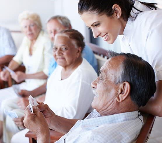 Happy seniors at Grand Villa of Palm Coast in Palm Coast, Florida