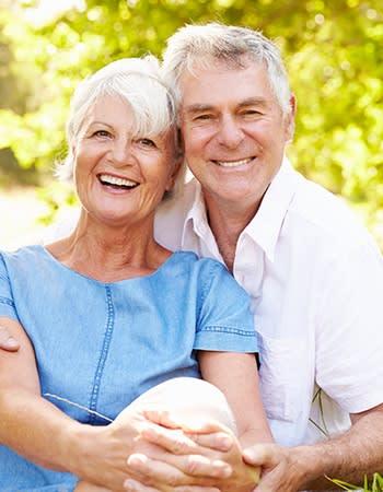 A happy couple at Grand Villa of Palm Coast in Palm Coast, Florida