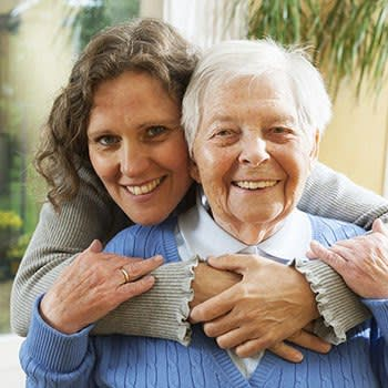 Resident and daughter at The Stilley House Senior Living in Benton, Kentucky.