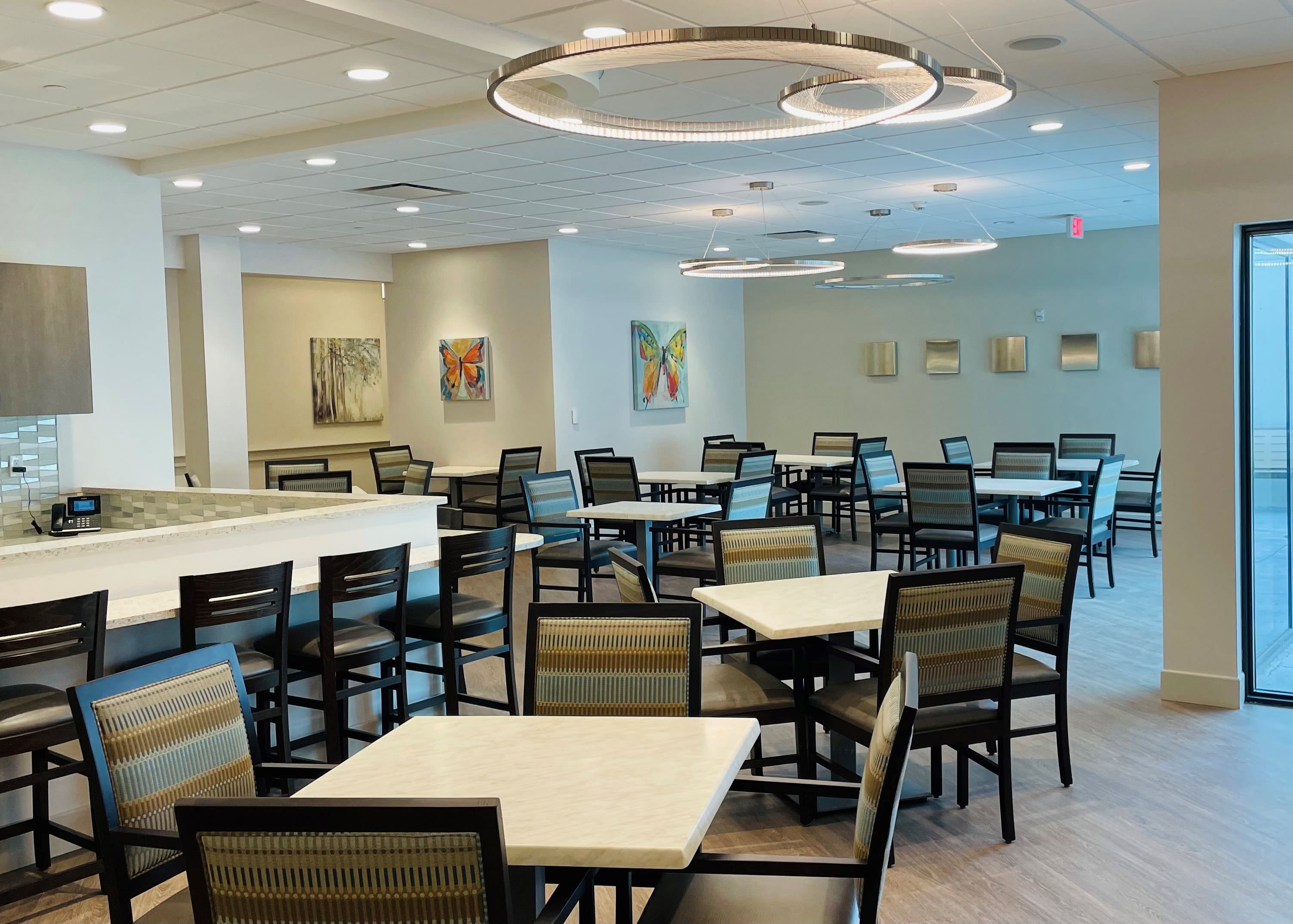 Dining Hall at Inspired Living Delray Beach in Delray Beach, Florida
