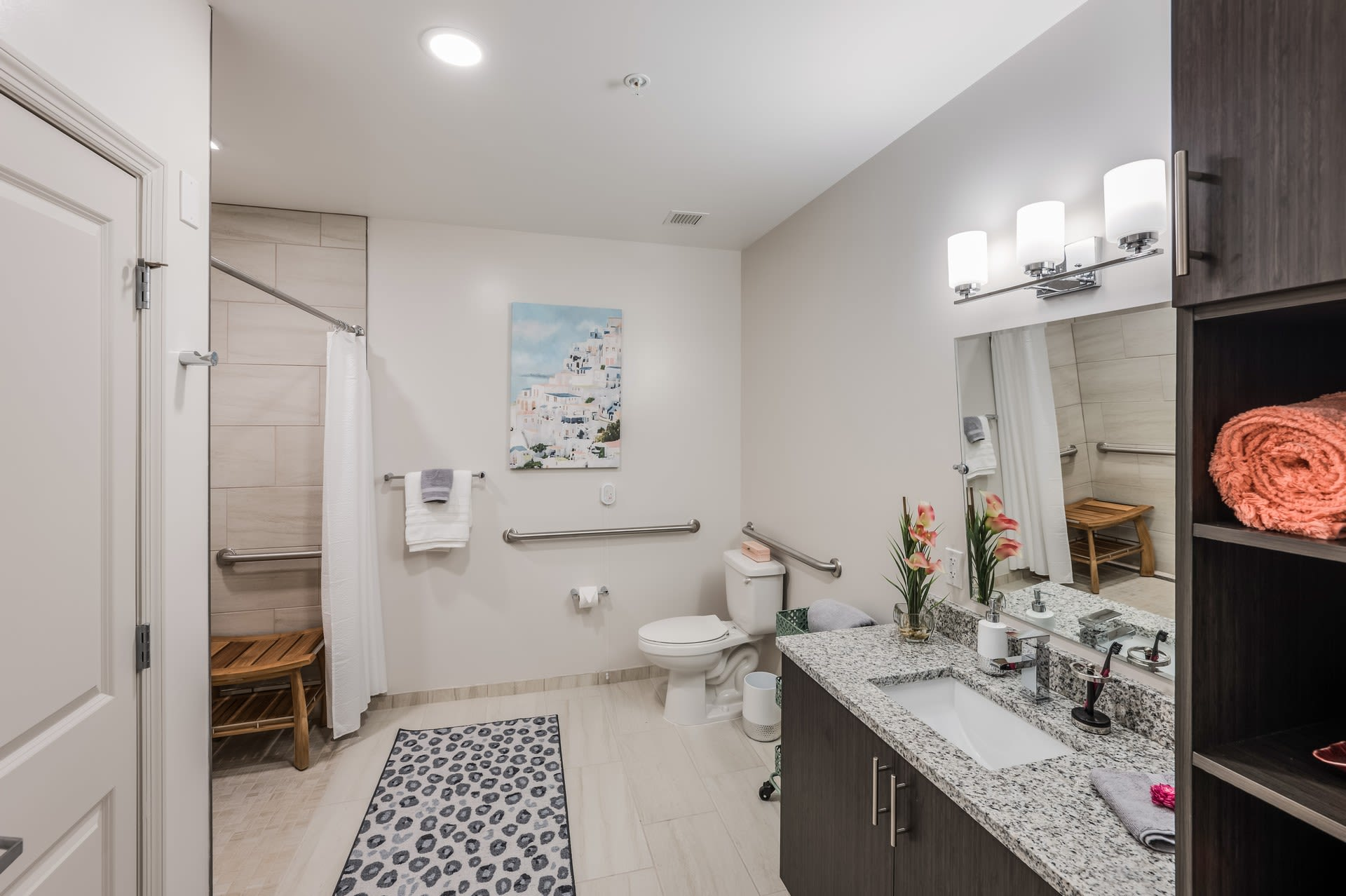 Enjoy a spacious bathroom at Alura By Inspired Living in Rockledge, Florida