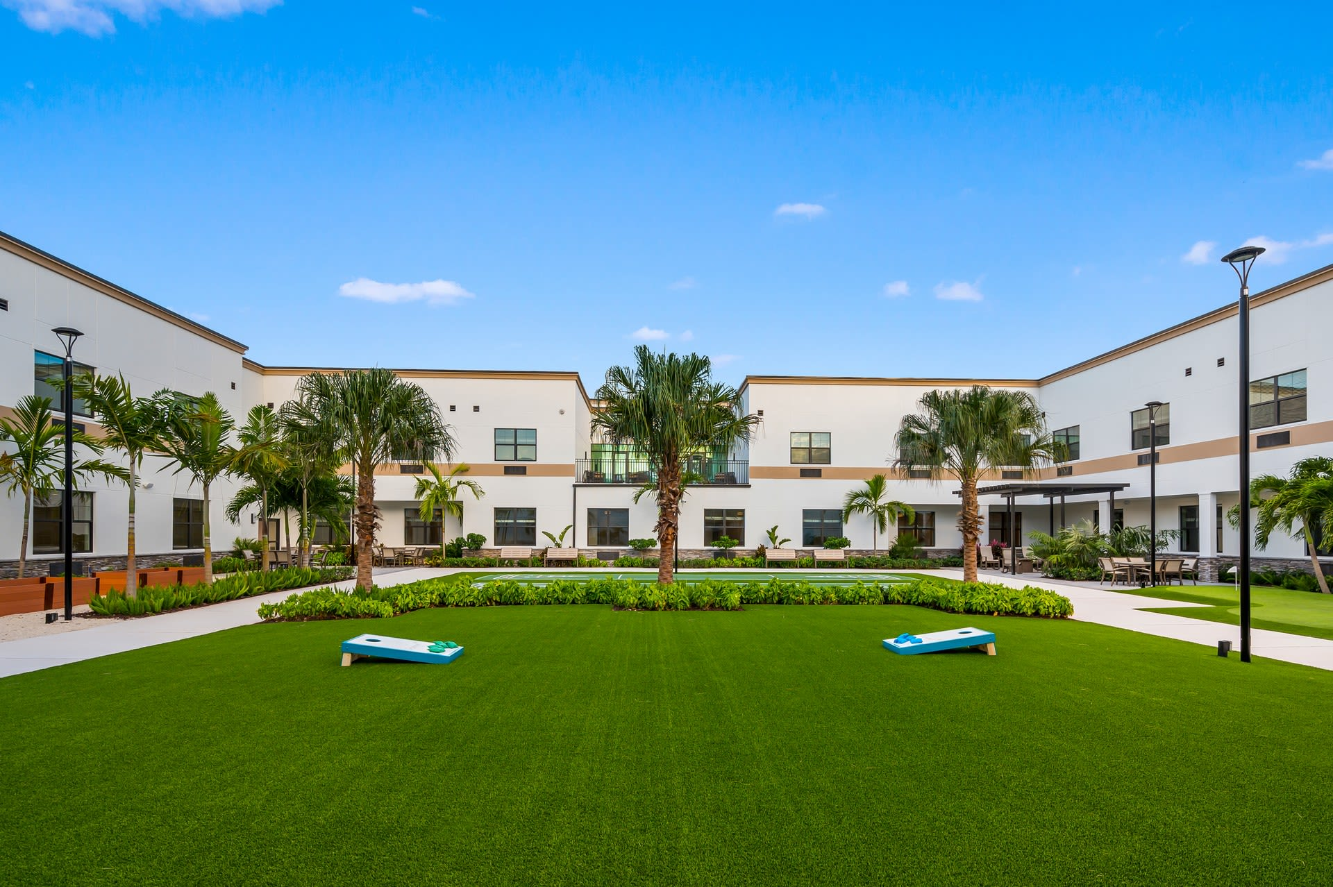 Courtyard at Inspired Living Royal Palm Beach in Royal Palm Beach, Florida
