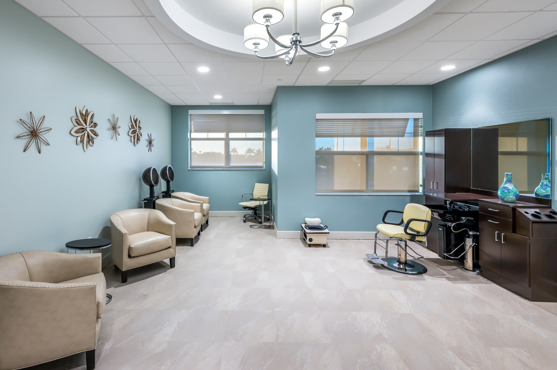 onsite salon at Inspired Living Royal Palm Beach in Royal Palm Beach, Florida